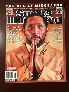 Baltimore Ravens Ray Lewis Signed Autographed Sports Illustrated Magazine