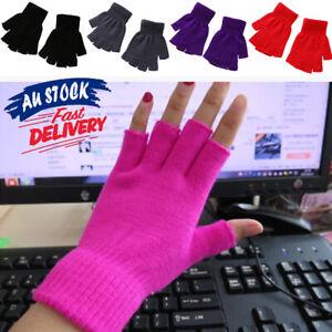 Women Men Knit New Hot Winter Fingerless Gloves Selling Fashion *AUS*
