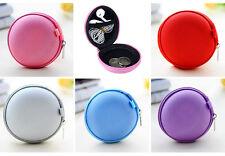 Mini Zipper Earphone Headphone SD Card Storage Bag Box Carrying Pouch