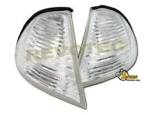 99 00 01 BMW E46 330i 323i 328i 325i 320i Sedan 4 Door Clear Corner Lights 1Pair