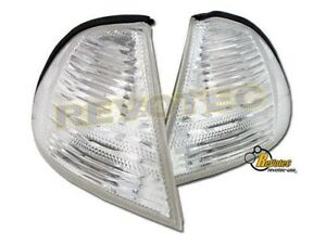99 00 01 BMW E46 330i 323i 328i 325i 320i Sedan 4 Door Clear Corner Lights 1Pair