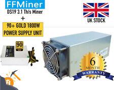 FFMiner DS19 3.1T/s ASIC Blake256 + Blake2B + 1850W Power Supply Unit - NEW