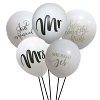 10pcs Mr Mrs Balloon Just Married Balloon She Said Yes Balloons Wedding Party