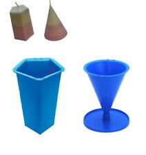 Set x 2, Pentagon 5 Sided Pillar & Cone Shaped Candle Moulds Molds. S7685