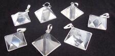 Pirámide De Cuarzo Trasparente brasileña Natural Colgante de cristal (pequeño)