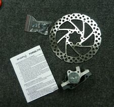New mechanical disc brake 6 bolt 160 mm rotor and caliper and bolts and pads FR
