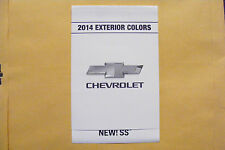 2014 CHEVROLET NEW! SS DEALERSHIP EXTERIOR COLOR CHART NEW