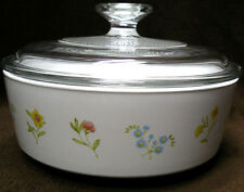 CENTURA Corning FLOWER GARDEN 1 1/2 QT straight-sided VEGETABLE Serving BOWL