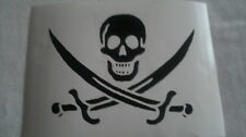 Skull & Crossed Swords Pirate Flag Vinyl Decal Sticker Transfer