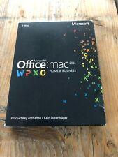 Office 2011 Home & Business Edition für MAC, PKC Vollversion mit MwSt Rechnung