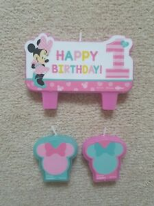 Minnie Mouse 1st Birthday Candles Brand New