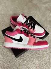 Air Jordan 1 Low Pinksicle Rush Pink White (GS) UK6   EU40 *BRAND NEW*