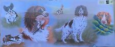 """Spaniels Dogs 48"""" x 20"""" Canvas on a wooden frame,(P)"""