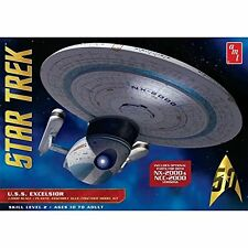 Amt Star Trek U.S.S. Excelsior Nx-2000 + Ncc 2000 Parts Model Kit 1/1000 Toy Pla