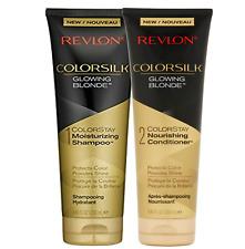 REVLON ColorSilk Glowing Blonde 8.45 Fluid Ounces Shampoo + Conditioner Duo Set