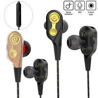 Wired Sports Headset In-Ear Earphone HIFI Super Bass Stereo Headphones With Mic