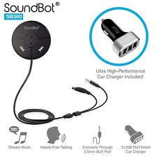 SoundBot SB360 Bluetooth 4.0 Car Kit Hands-Free Wireless Talking & Music Dongle