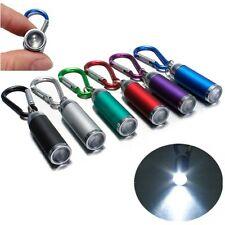 Mini Convex Aluminium LED Flashlight 6PCS Random Torch Pocket KeyRing Clip Hook