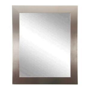 "BrandtWorks Modern Silver Square Mirror, 32"" x 32"" - BM001SQ"
