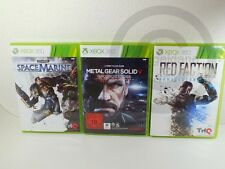 !!! XBOX 360 gioco Metal Gear Solid V, Space Marine, Red Faction, usk18!!!