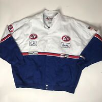 Vtg 1990s Nascar Richard Petty Denim Racing Jacket Mens 4xl Button Up Coat Rare
