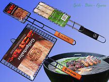 BBQ Grillzange, Steakwender, Steakhalter, Grill Korb, Würstchen Zange Halter