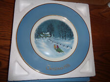 """1976 Avon Christmas Collectible Plate """"Bringing Home the Tree"""" - 3rd Edition"""