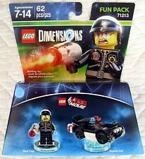 LEGO DIMENSIONS FUN PACK 71213 - LEGO MOVIE BAD COP & POLICE CAR -ONLY ONES! MIB