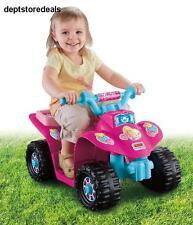 Girls Four Wheeler Ride On Toy Kid Child Power Wheels Barbie Quad ATV Pink Child