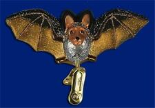 CLIP-ON BAT GLASS HALLOWEEN OLD WORLD CHRISTMAS SPOOKY ORNAMENT NWT 12308