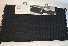 "PROJECT 62 Extended Table Runner 20""x 90"" BLACK WEAVE Jute Dining Room Decor NWT"