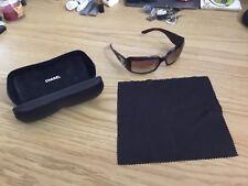 Chanel Mother Of Pearl Singlasses @ Case Black Model #5076-h