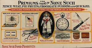Vintage Ink Blotter - None Such Food Products