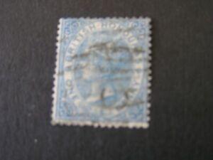 BRITISH HONDURAS, SCOTT # 1, 1p. VALUE PALE BLUE 1866 QV PERF 14 ISSUE USED