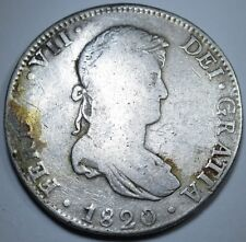 1820 JJ SPANISH 8 REALES COIN PIECE OF EIGHT REAL PIRATE SHIPWRECK TREASURE?