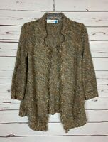 Sparrow Anthropologie Women's S Small Brown Cute Winter Spring Cardigan Sweater