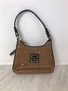 Vtg Dooney & Bourke Tiny Handbag Patent Brown