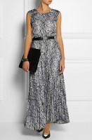 MICHAEL KORS Collection Gray Snake Print Long Maxi Dress XS netaporter