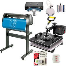 15x15 Heat Press 6 In 1 Sublimation Machine 34 Vinyl Cutterplotter Cutting