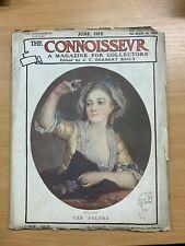 """JUNE 1912 """"THE CONNOISSEUR MAGAZINE"""" ANTIQUES & ART COLLECTORS MAGAZINE (P3)"""