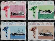 Faroese fishing vessels stamps, 1977, Faroe Islands, SG ref: 23-26, 4 stamps MNH