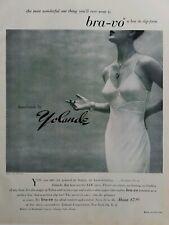 1949 women's yolande handmade Bra-vo bra and slip vintage fashion ad