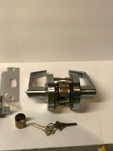 GALKeyed Entry Door Lock, Commercial Lever Style Handle Global  GAL-1151L-R-626