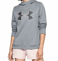 Under Armour Women's Synthetic Fleece Pullover Hoodie Sweatshirt Gray Pink NWT
