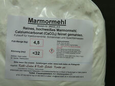 Marmormehl kleiner 32my. 4,5kg im Beutel. Sehr weiss. MM32_5