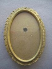 Vintage Gilt Metal Oval Shaped Miniature Frame  171NES20
