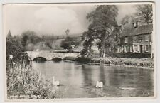 Gloucestershire postcard - Swan Bridge, Bibury - RP