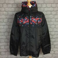 PRETTY GREEN MENS UK XL SPOT PRINT HOODED BLACK RAIN JACKET RRP £115