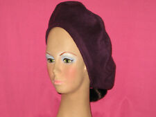 Handmade Beret - Fleece - Solid - Dark Purple - One size