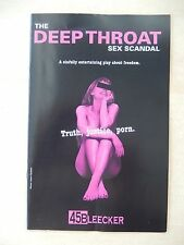 2010 - 45 Bleecker Theatre Playbill - The Deep Throat Sex Scandal - Lori Gardner